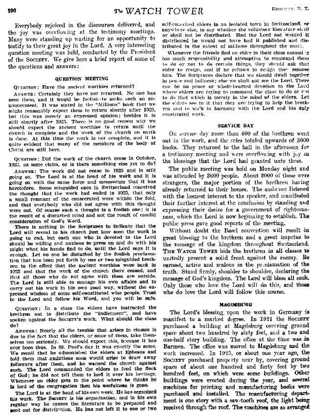 Watchtower 1926 page 196 1925